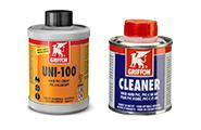 Glue and cleaning fluid